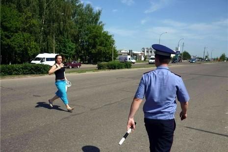 В Курске ловили пешеходов-нарушителей